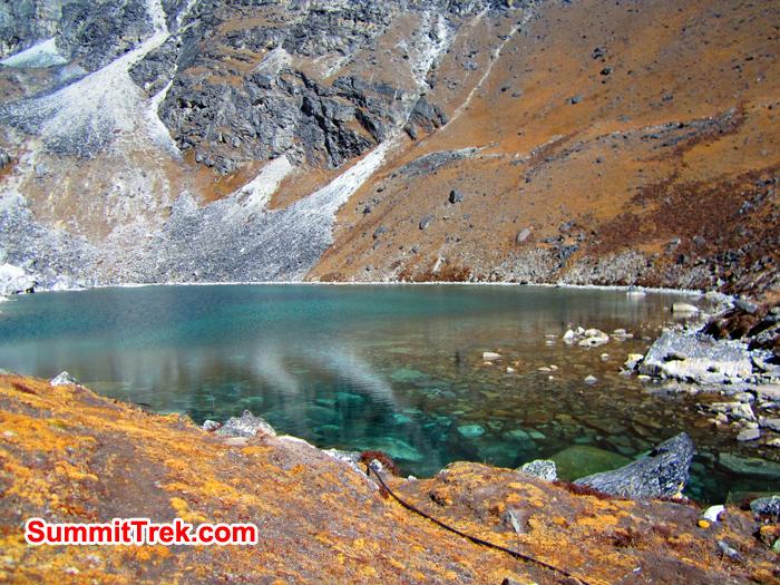 Glacier lake near Gorek Shep