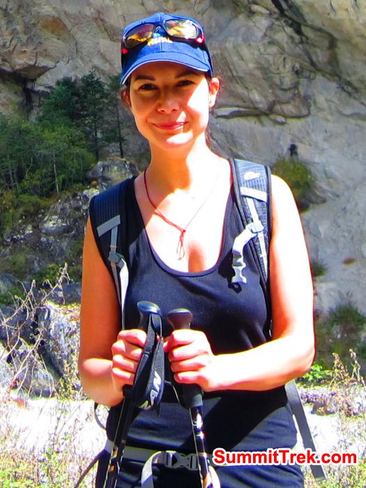 Janine near Pangboche