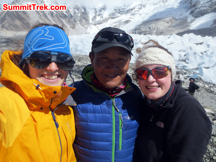 Member and sherpa at the Everest Basecamp
