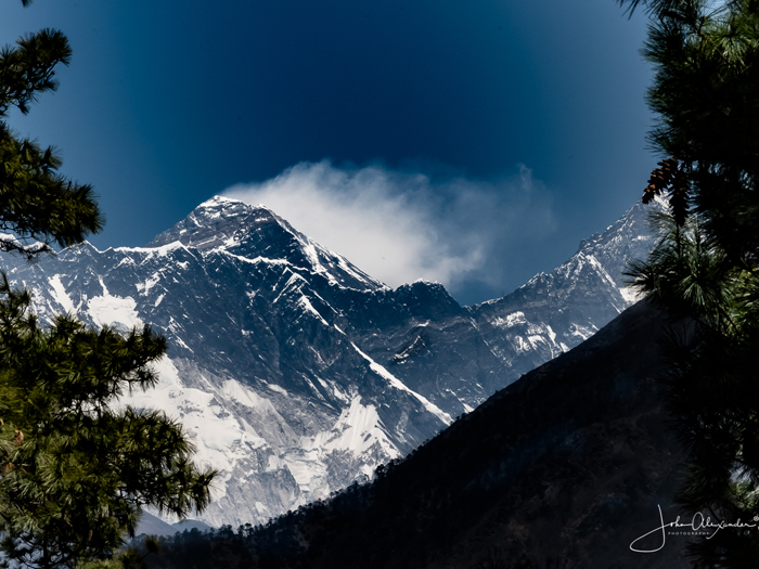 Mount Everest seen from Namche Hill