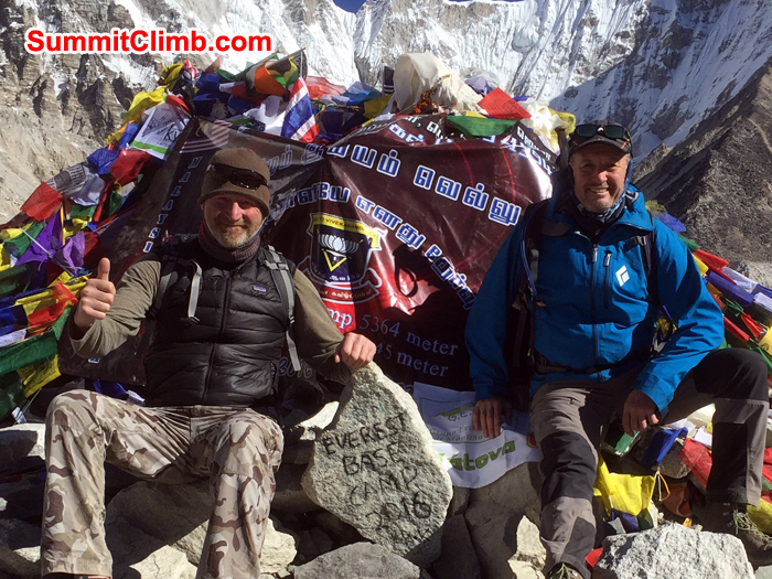 Neil and Gordon at Everest Basecamp. Photo Neil