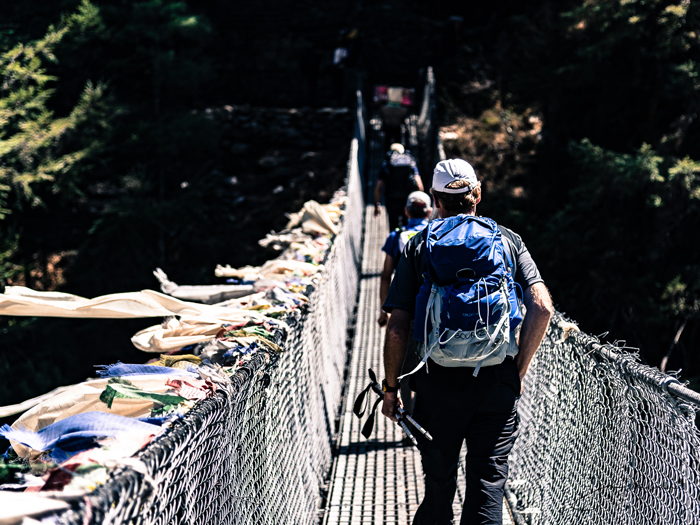 One of the many suspension bridge while everest basecamp trek