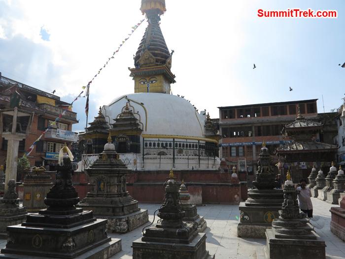 Buddhist Stupa at Sigal:one of the placesin Kathmandu. Photo Matthew Slater