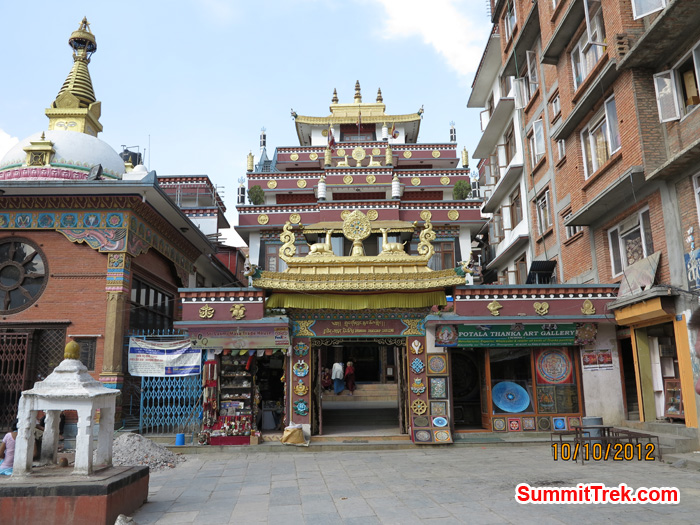 Buddhist Bihar, where monks live: Sigal, Kathmandu. Photo by Matthew Slater