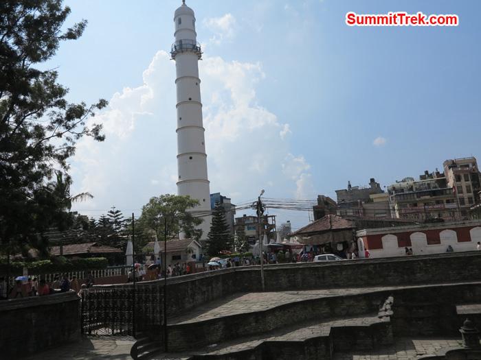 Bhimsen Tower tallest tower in whole Nepal build by BhimsenThapaat Sundhara in Kathmandu city. Photo by Matthew Slater