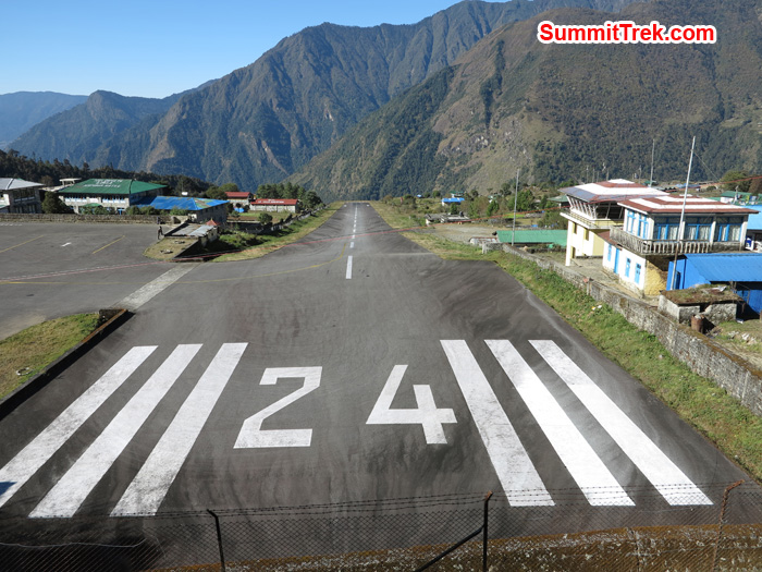 World famous Airport in the world, Lukla Airport. Photo by Matthew Slater
