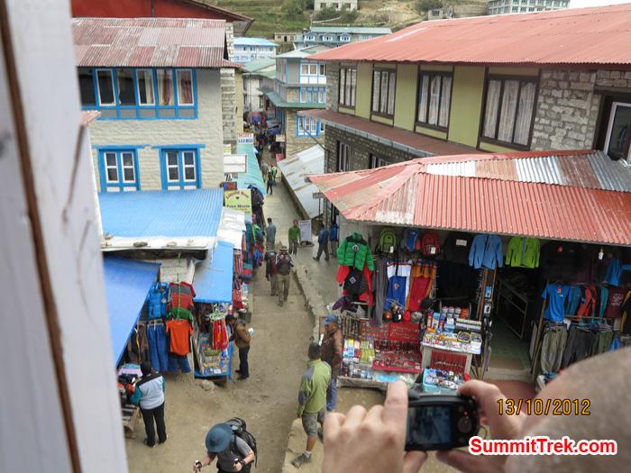 Center of Namche Bazaar. Photo by Matthew Slater.