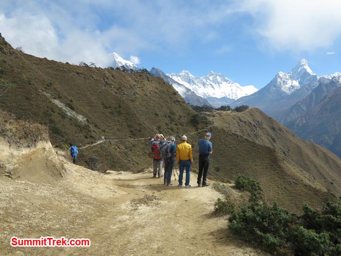 Enjoying the view of Himalaya range of Everest, Lhotse and AmaDablam. Photo by Matthew Slater.