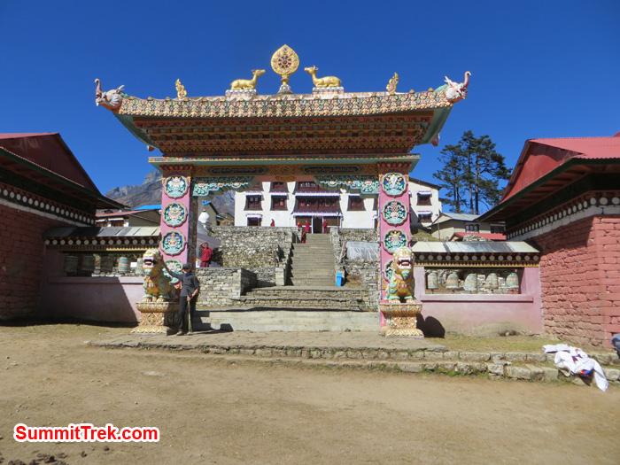 Tangboche Monastery gate. Photo by Daniel Haraburda Joseph.