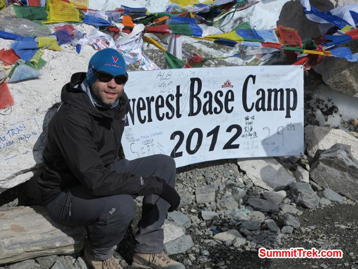 Mathew at Everest BaseCamp. Photo by Matthew Slater.