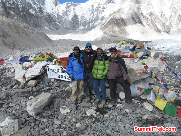 Everest BaseCamp with Sherpas. Photo by Matthew Slater