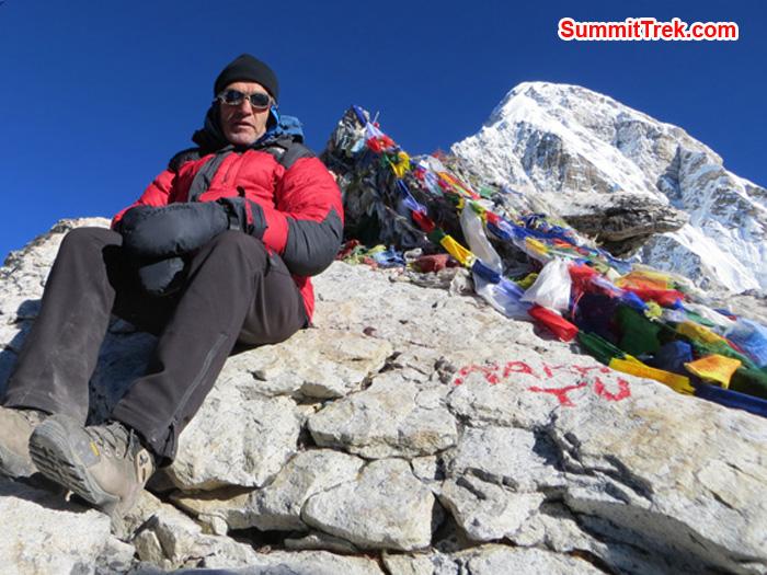 Summit of KalaPathar. Photo Daniel Haraburda Joseph