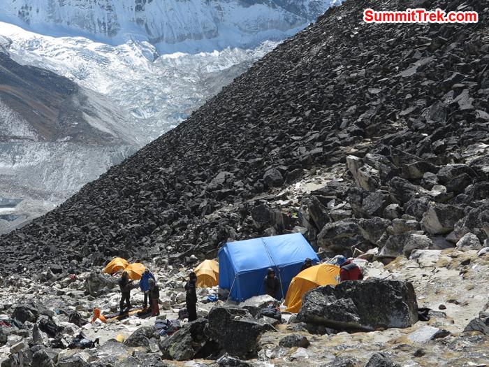 Island Peak High Camp. Photo by Matthew Slater