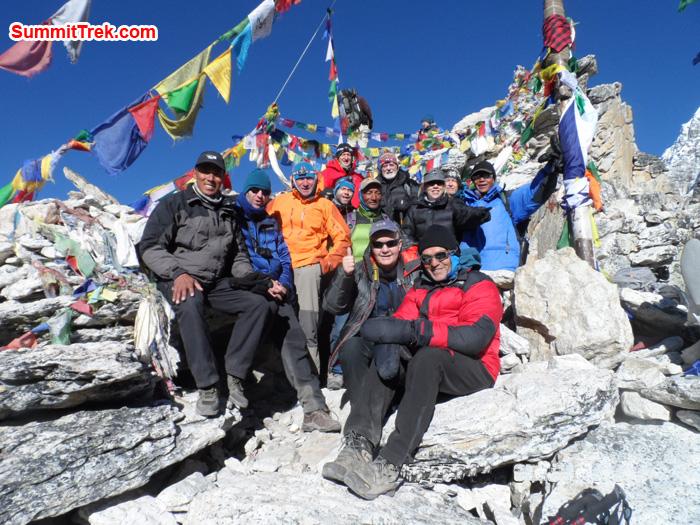 Members at summit of Kala Pattar. Photo Sange Sherpa
