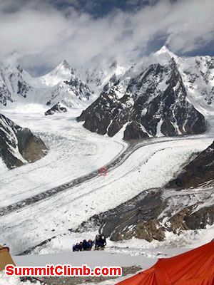 k2 news,just about to arrive in camp 1