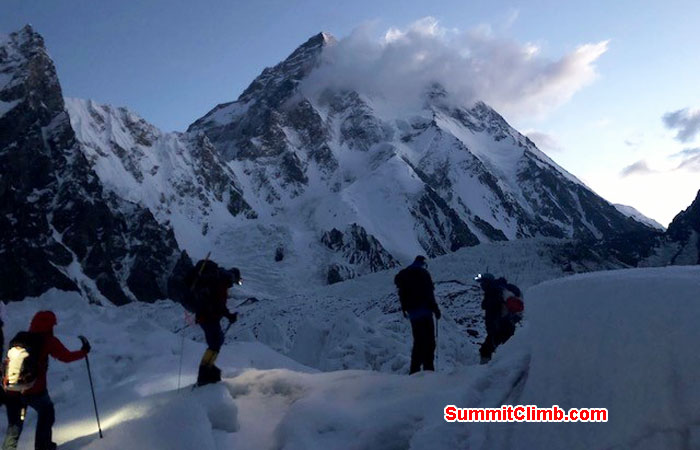 k2 news, glaceir to the base camp
