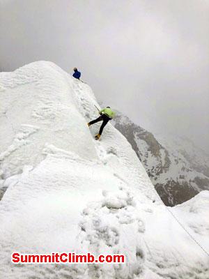 k2 news, glacier rope practice