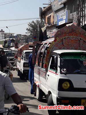 Street traffic in Rawalpindi