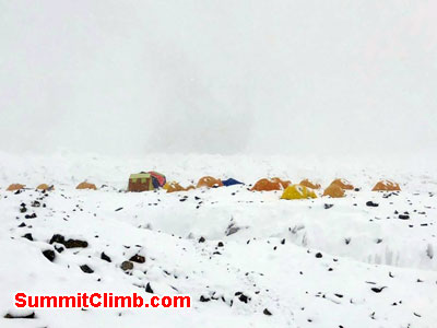 The first view of our Basecamp (joint K2 and Broad Peak)