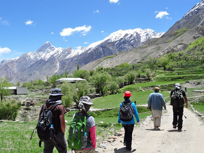 Trekkers are at Askole village