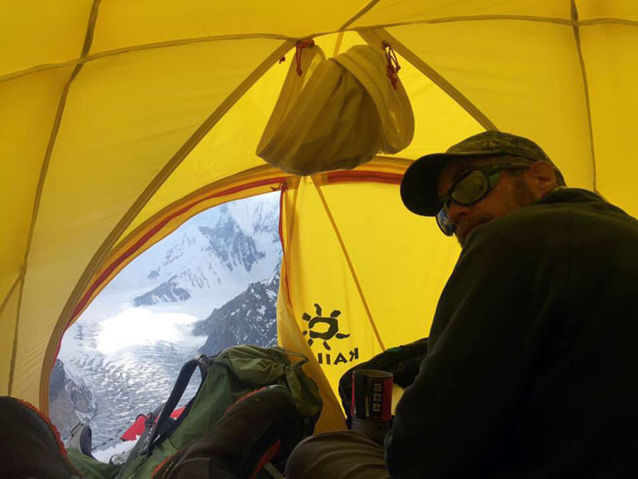 inside of tent