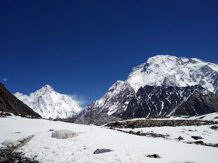 k2 and broad peak