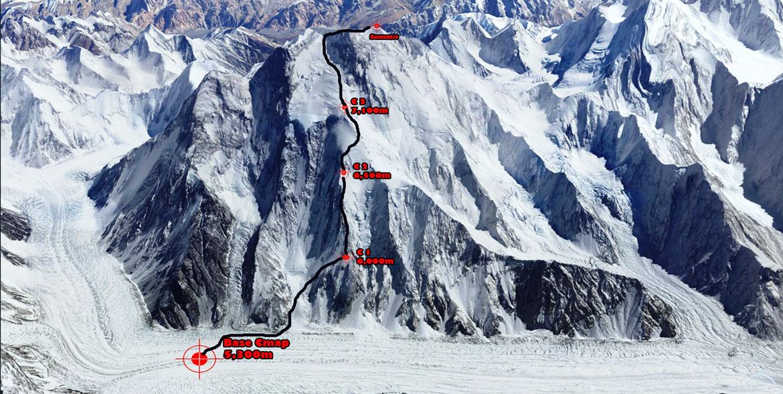 route map broad peak