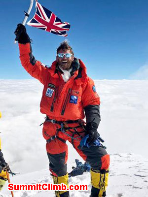 Jake on the summit of k2
