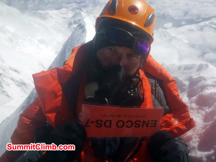 At summit of lhotse