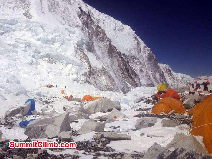 Basecamp and tents
