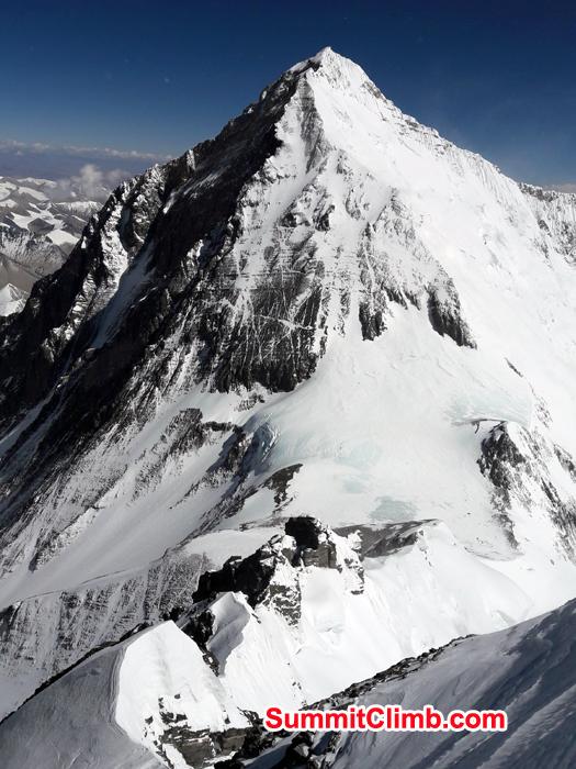 Everest Seen from Summit of lhotse