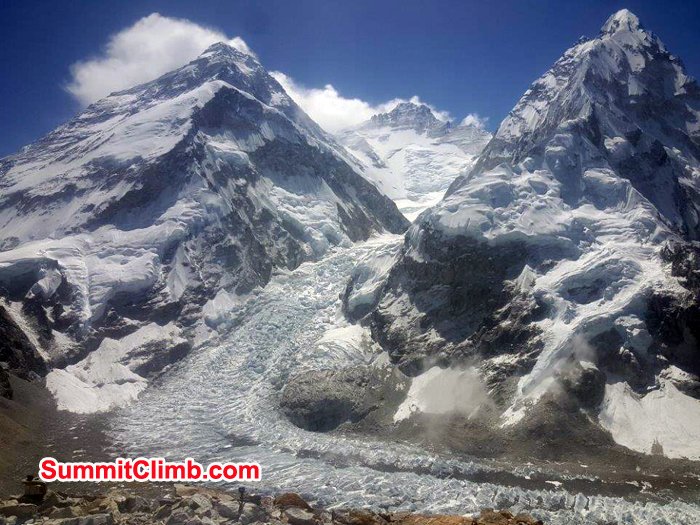 Everest both side ridge seen from Pumori ABC