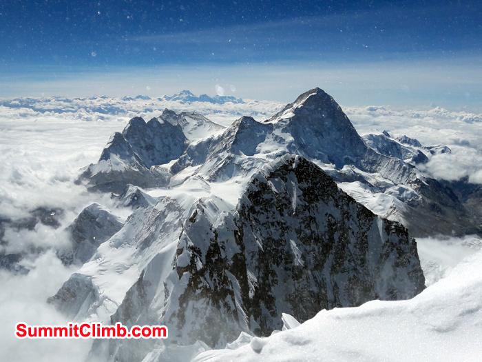 Himalayan range seen from summit of lhotse