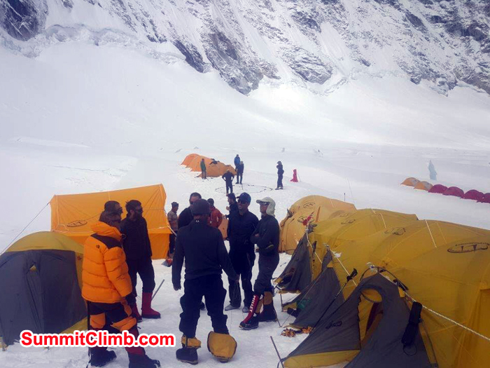Lhotse Members at Camp 1