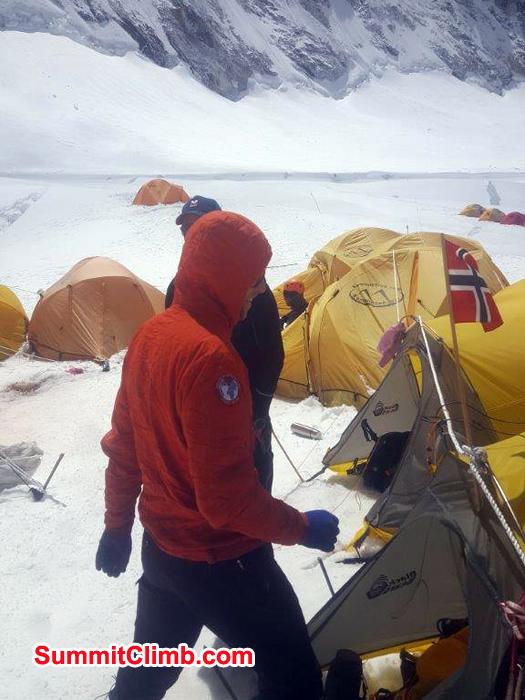 Members tents at camp 1