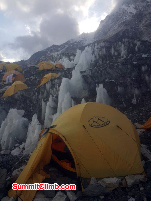 SummitClimb tent at everest basecamp