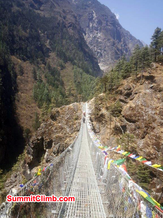 one of the many suspension bridge near Phakding