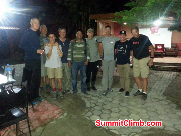 Everest Glacier Team members at Kathmandu resturant.