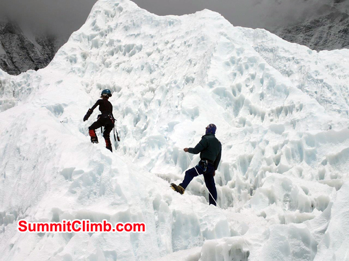 Ice training at Basecamp