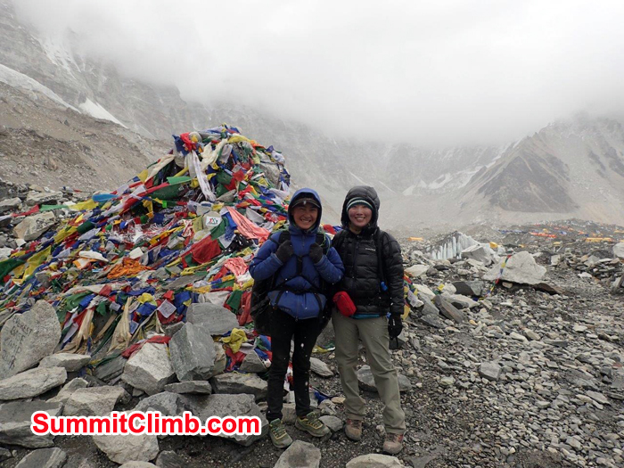 Ram bahadhur and Michiko Eto at Lobuche High camp.
