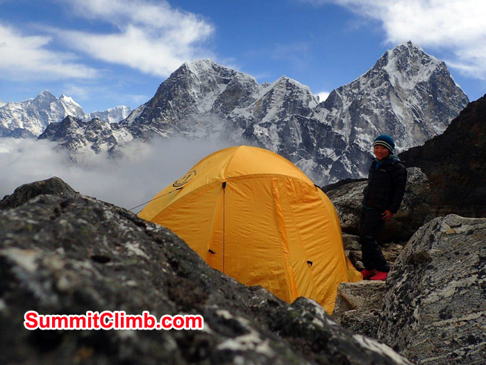 Tent at High camp