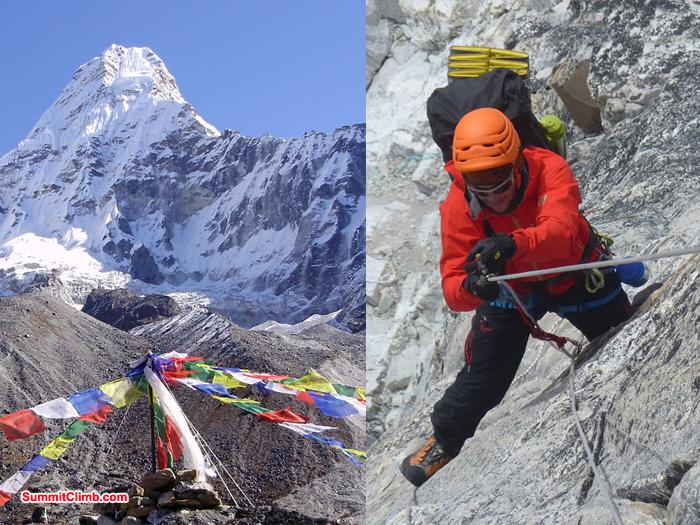 amadablam climb action