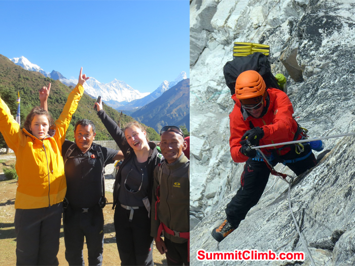 everest basecamp and amadablam action
