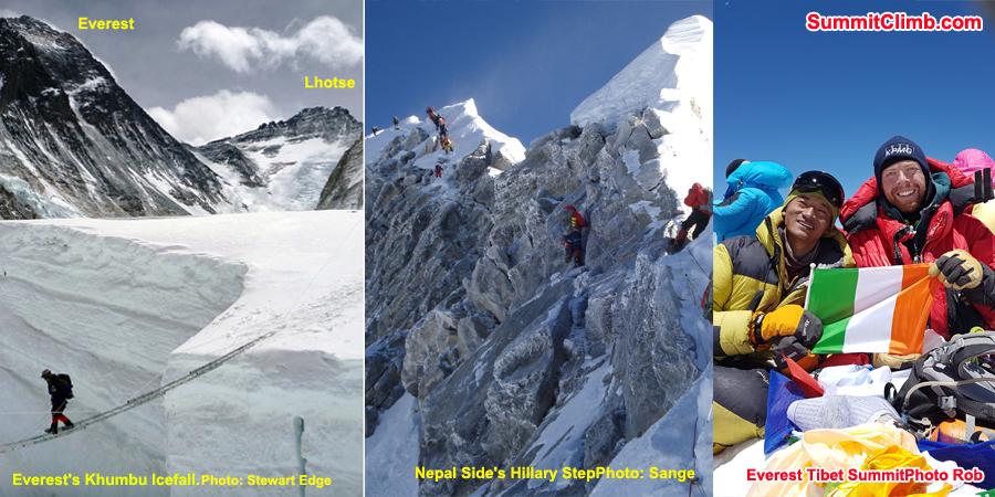 60 Day Deadline for Everest Summit, Training Climb, Glacier School, Base Camp, Mount Lhotse.