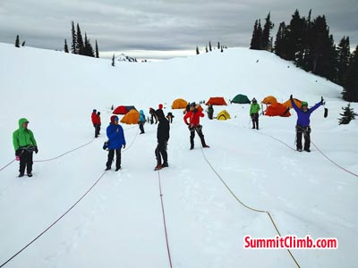 Winter Glacier School organised by SummitClimb