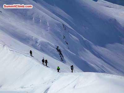 Winter Glacier School organised by SummitClimb