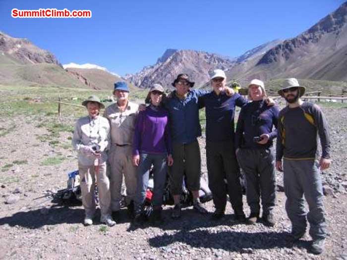 team at start of trek, aconcagua