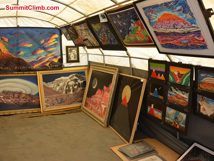 Art gallery at 4300m