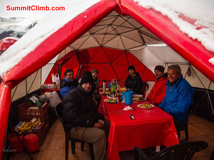 Our dome tent at BC - Photo Ashok Tripathi