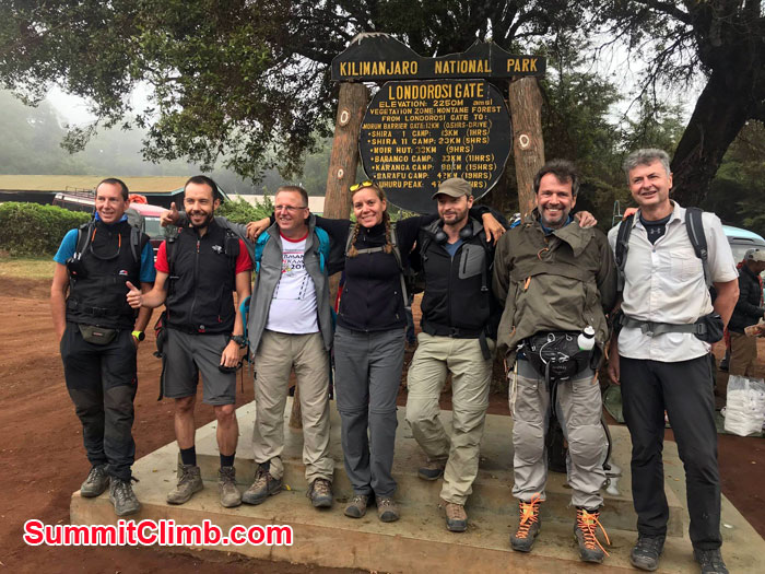 Kilimanjaro expedition before entering park